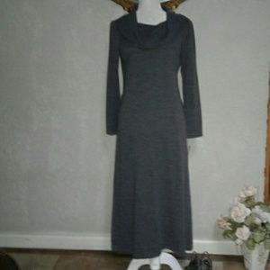 Nwt Lennie for NINA LEONARD Gray Maxi  Dress PM